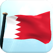 Bahrain Flag 3D Free Wallpaper