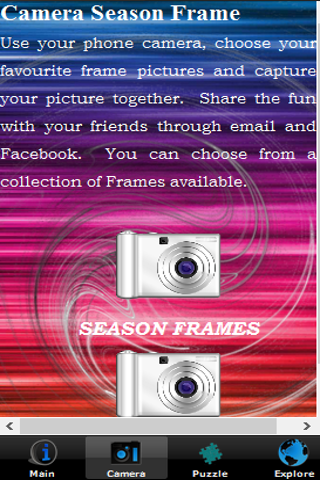 Camera Season Frame