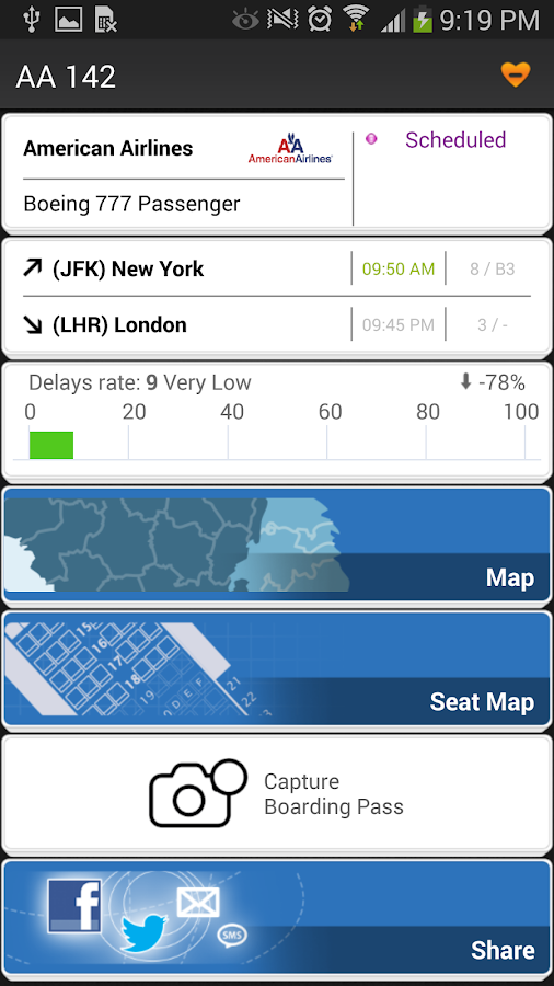 Airline Flight Status Tracking- screenshot