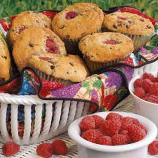 Raspberry Chocolate Chip Muffins.