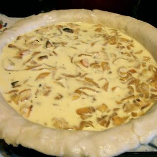 Carmelized Onion, Brie, and Apple Quiche.