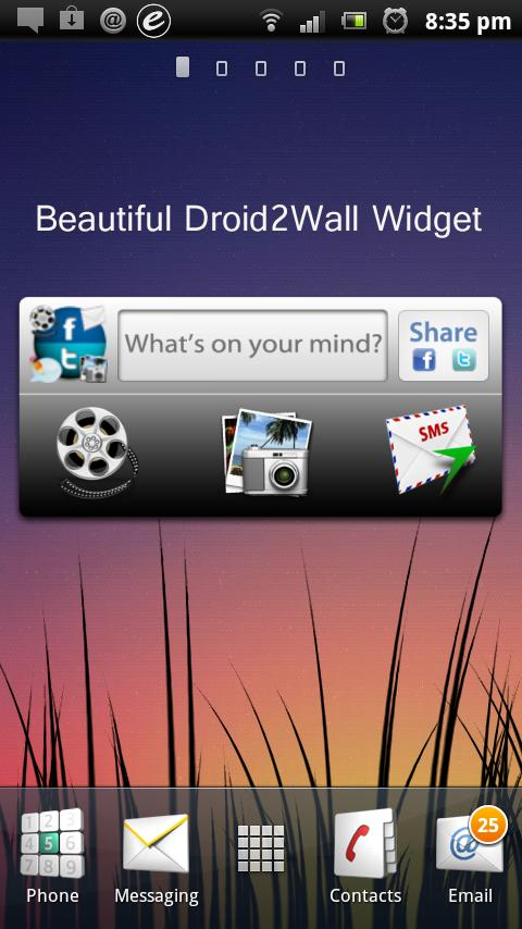 Droid2Wall - screenshot