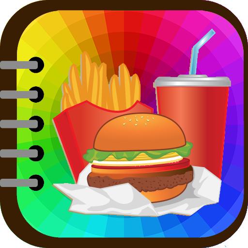 兒童著色書 ( 食物 ) LOGO-APP點子