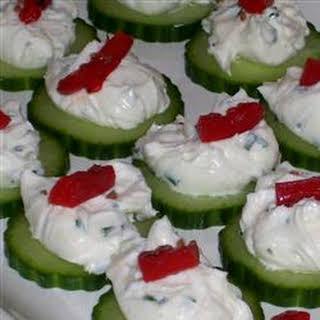 Cucumber Crab Snacks.