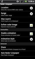 Screenshot of Radar Livepaper Lite