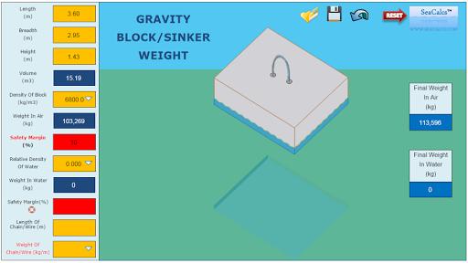GRAVITY BLOCK SINKER WEIGHT 3D