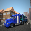 Car Transporter Truck Drive 3D icon