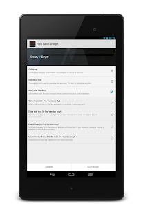 Holo Label Widget - screenshot thumbnail