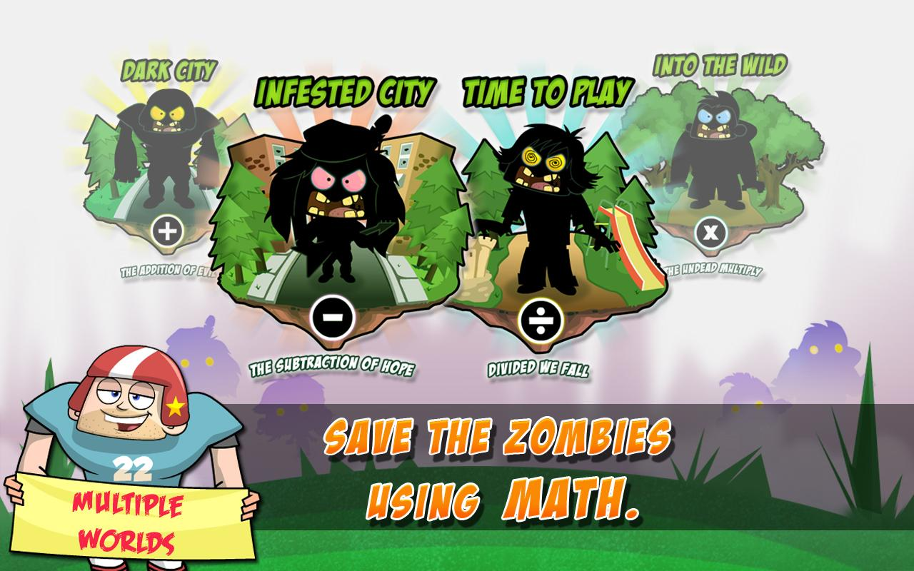 Math Vs Zombies Free - screenshot