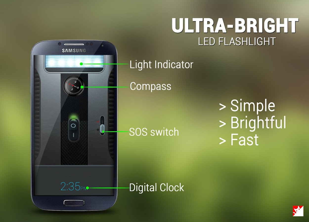 Cool Bright LED Flashlight - screenshot