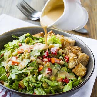 Thai Chopped Peanut Salad with Crispy Sesame Tofu.