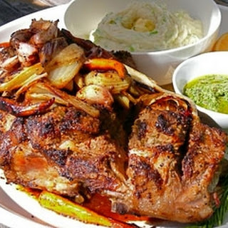Quick Roast Leg Of Lamb With Champ And Salsa Verde