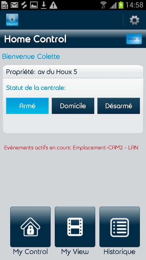Belgacom Home Control - screenshot