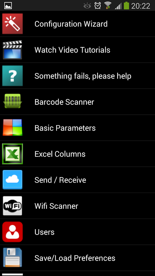 Barcode scanner + Inventory - screenshot
