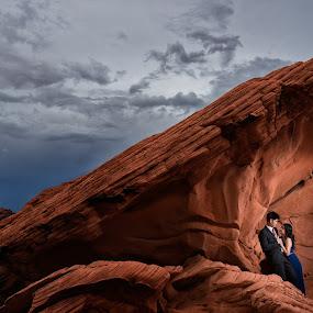 When The World Is Just For Us by Yansen Setiawan - Wedding Other ( creative, art, losangeles, illusion, landscape, love, fineart, yansensetiawanphotography, prewedding, d800, wedding, lifestyle, photographer, red rock, la, yansensetiawan, nikon, yansen, engagement )