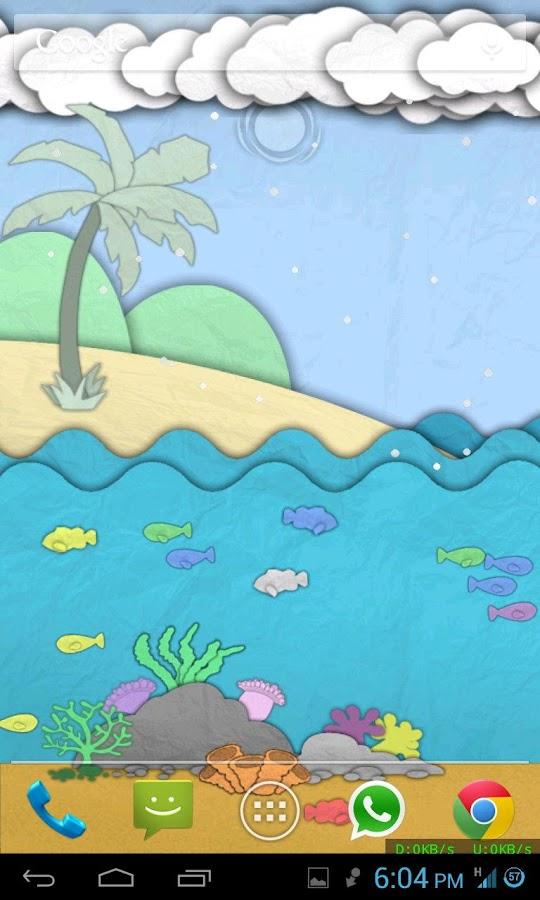 Paper Sea Live Wallpaper- screenshot