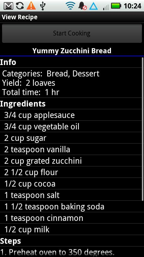 Digital Recipe Sidekick.- screenshot