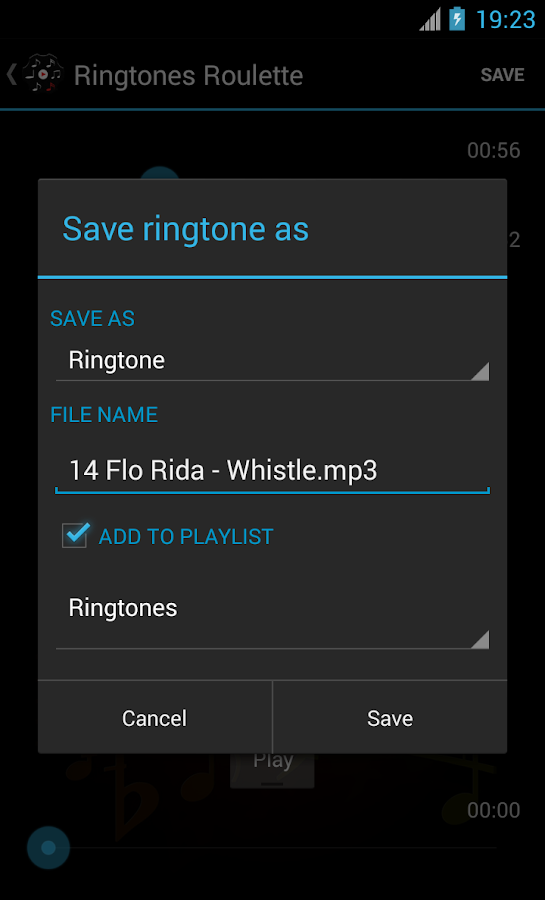 Ringtones Roulette - screenshot