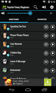 Popular Funny Ringtones - screenshot thumbnail