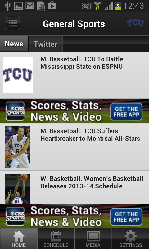 TCU Horned Frogs - screenshot