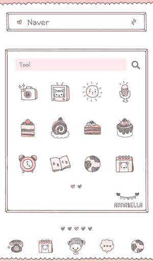 【免費個人化App】안나벨라(케이크삼매경) 도돌런처 테마-APP點子