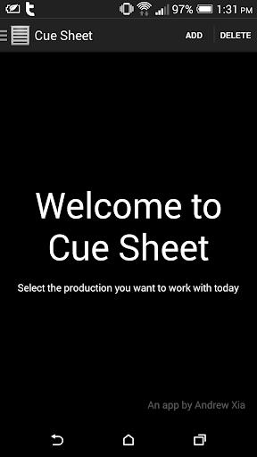 Cue Sheet