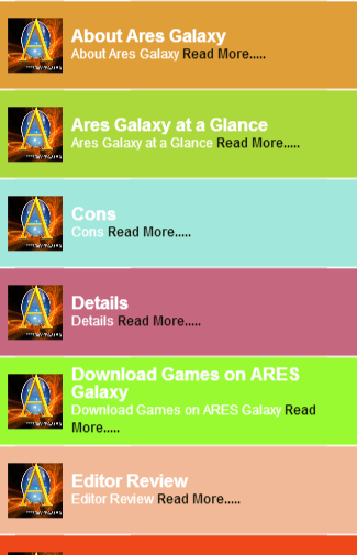 Ares Galaxy Guide