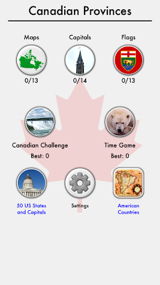 Canadian Provinces Territories - screenshot