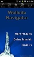 Screenshot of Wellsite Navigator USA