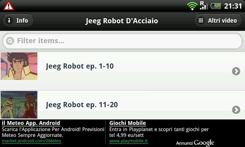 Jeeg Robot D'Acciaio - screenshot