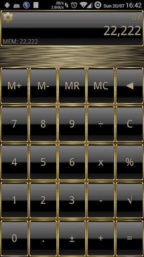 SCalc Frame Gold theme