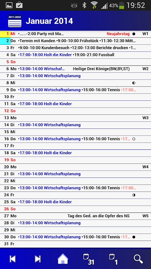Deutscher Kalender-Vollversion - screenshot