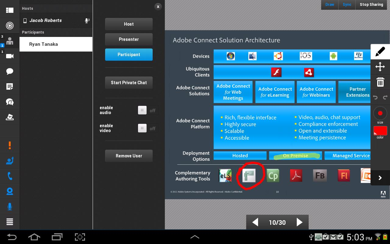 Adobe Connect – Screenshot