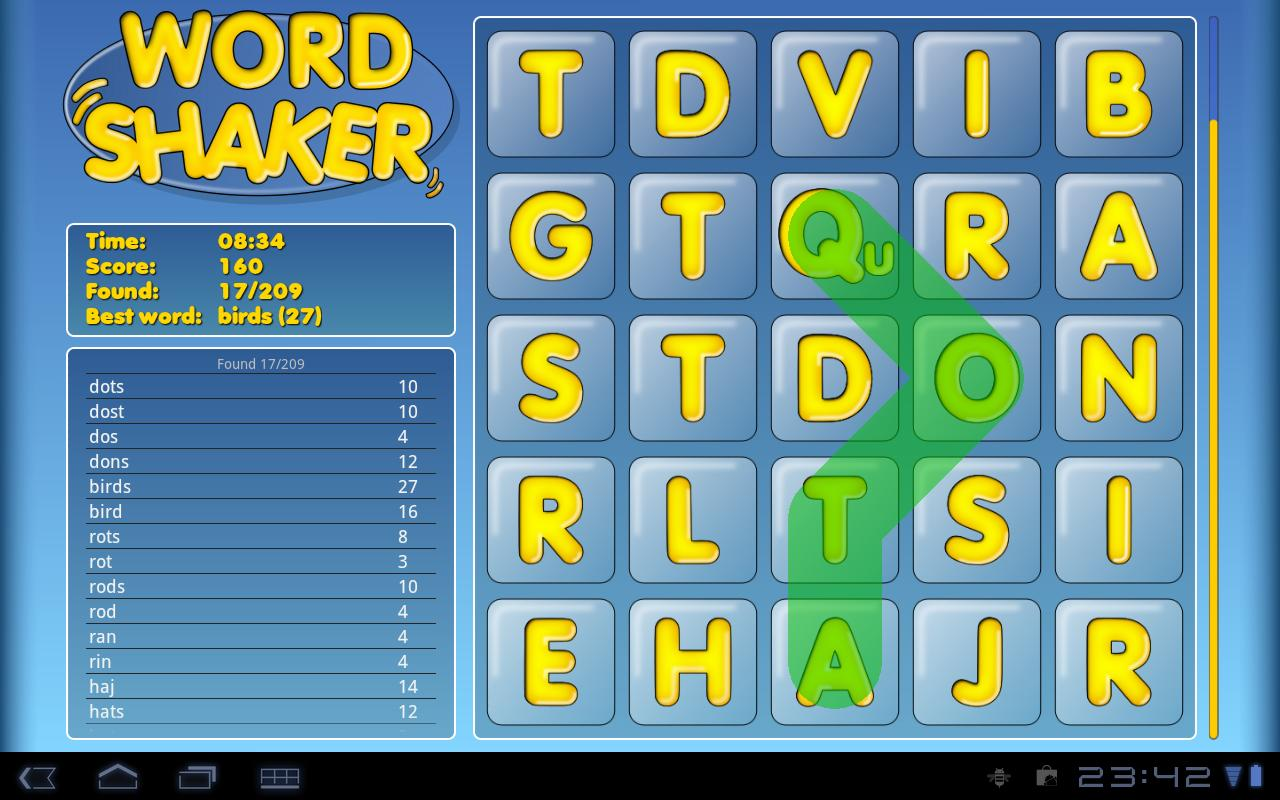 Word Shaker - screenshot