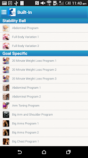 Fitness Buddy : 1700 Exercises- screenshot thumbnail