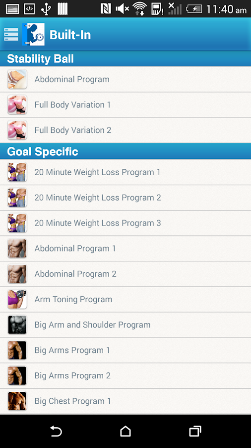 Fitness Buddy : 1700 Exercises- screenshot