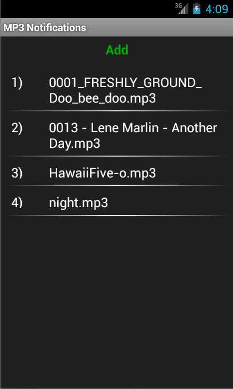 MP3 Notifications- screenshot