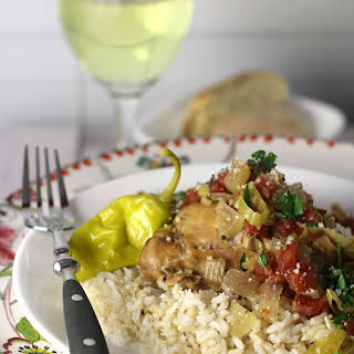 Slow Cooker Italian Pepperoncini Chicken.