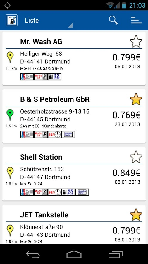 LPG CNG Finder Europe - screenshot