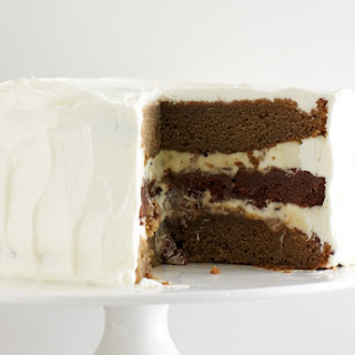 French Vanilla Mocha Latte Layer Cake.