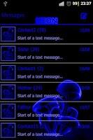 Screenshot of Blue neon theme GO SMS Pro
