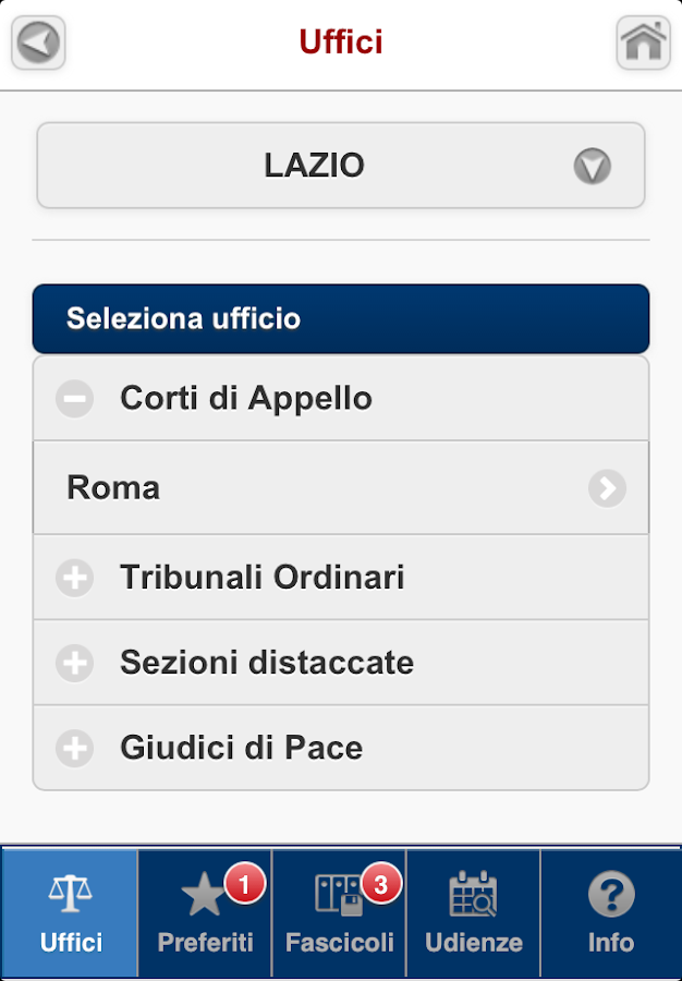 Giustizia Civile- screenshot
