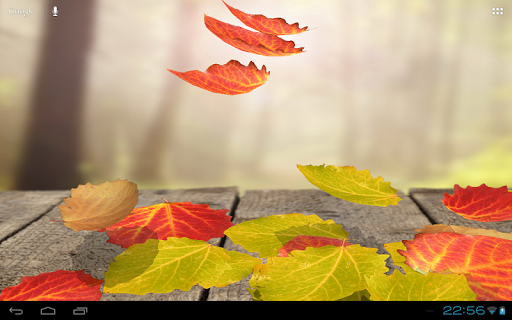 Falling Leaves 3D Wallpaper