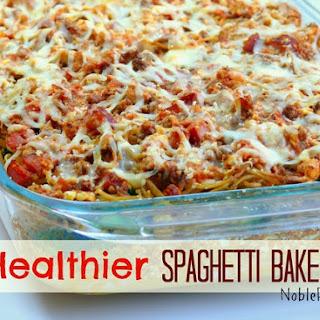 Healthier Spaghetti Bake