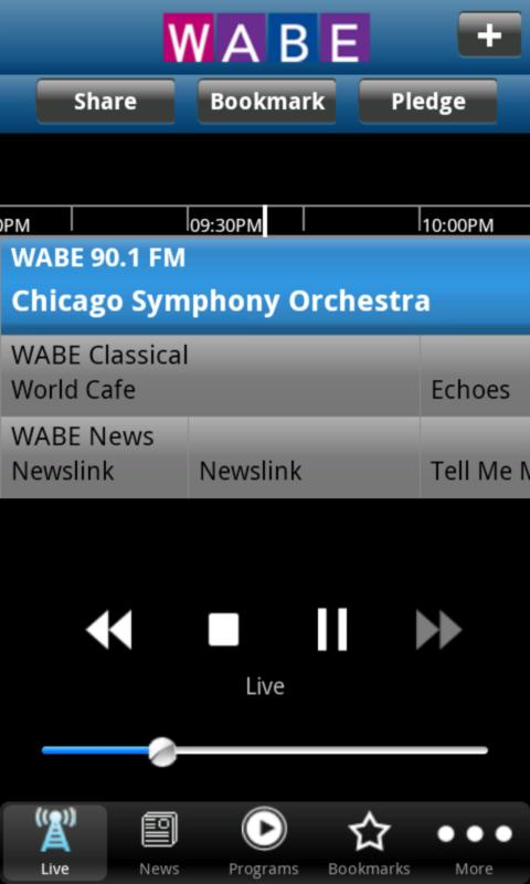 WABE Public Radio App- screenshot