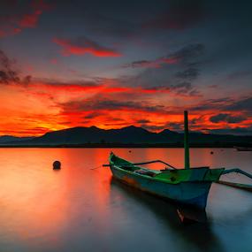 Blue Boat by Gus Mang Ming - Transportation Boats ( bali* boat* )