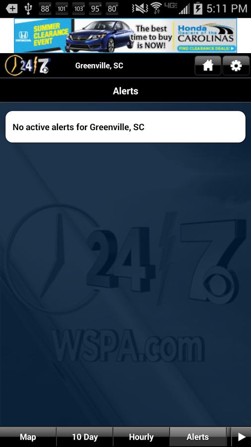 WSPA WX - screenshot