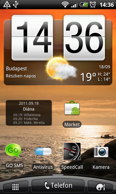 Magyar Névnapok lite - screenshot