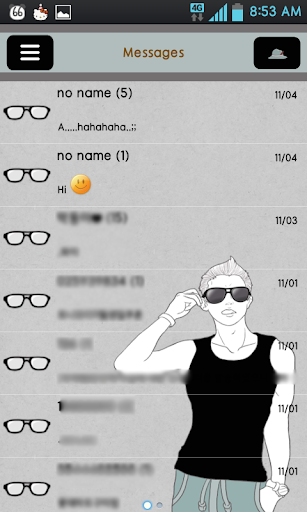 chasinamSeek this GO sms theme
