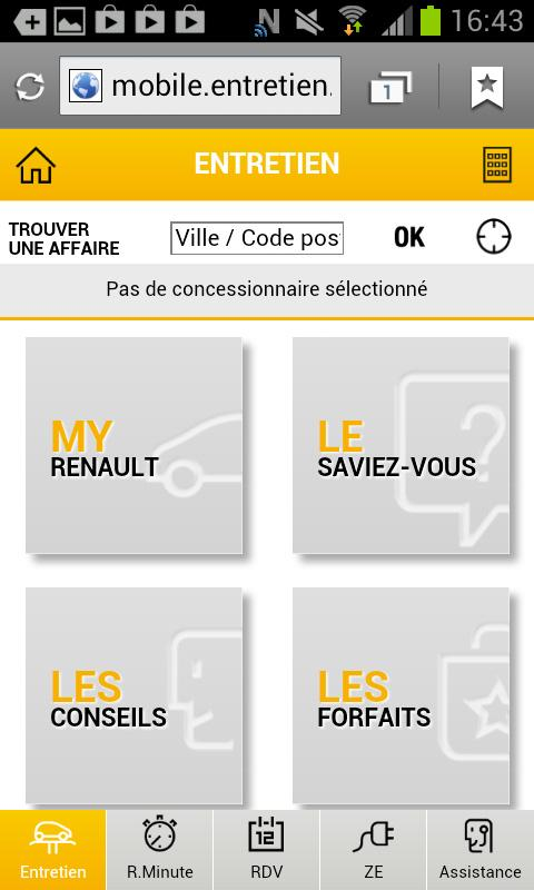 Renault Service- screenshot